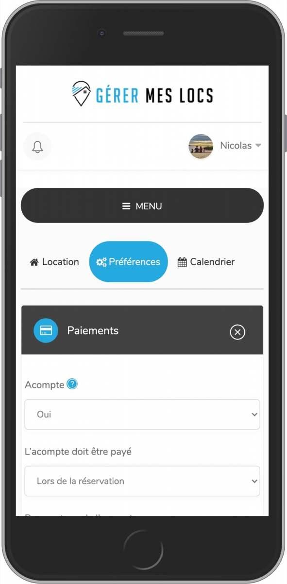 application mobile et système de paiement gratuit pour votre location de courte durée