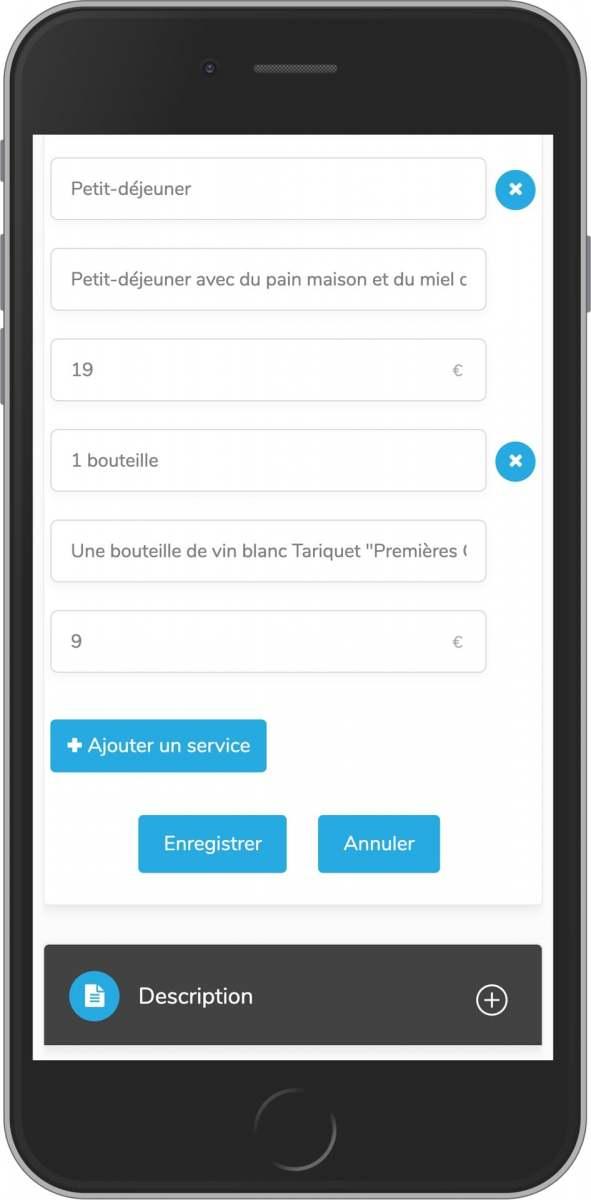 application mobile gratuite services à votre loc saisonnière upsell