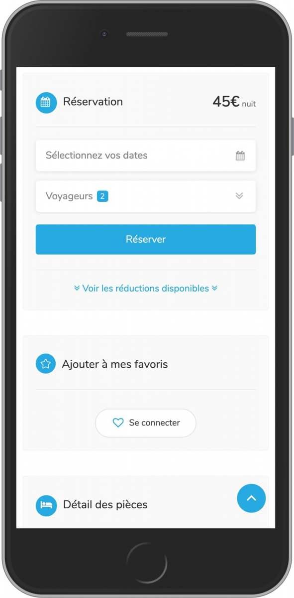 système de réservation gratuit pour les loueurs pro et particulier sur mobile