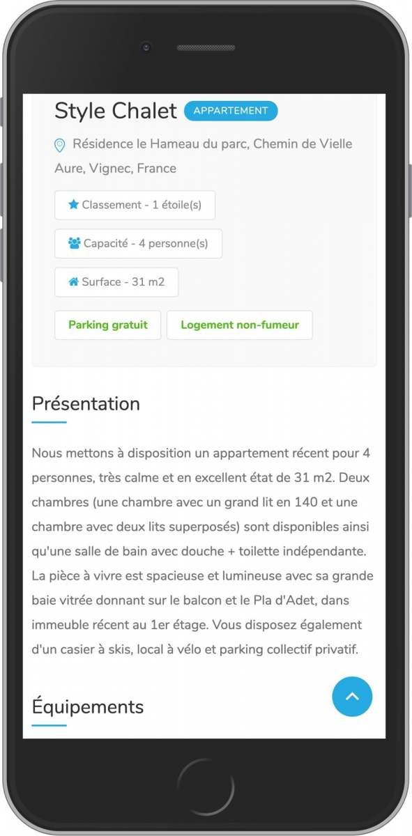application mobile gratuite présentation de votre location saisonnière