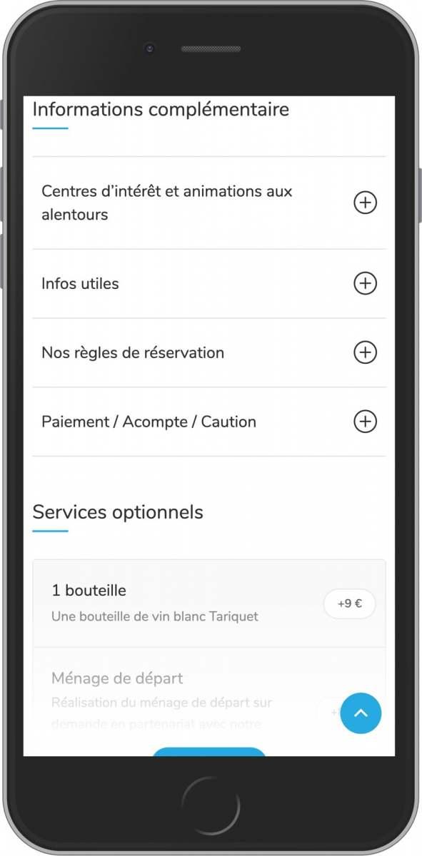 application mobile gratuite informations et services de votre location saisonnière