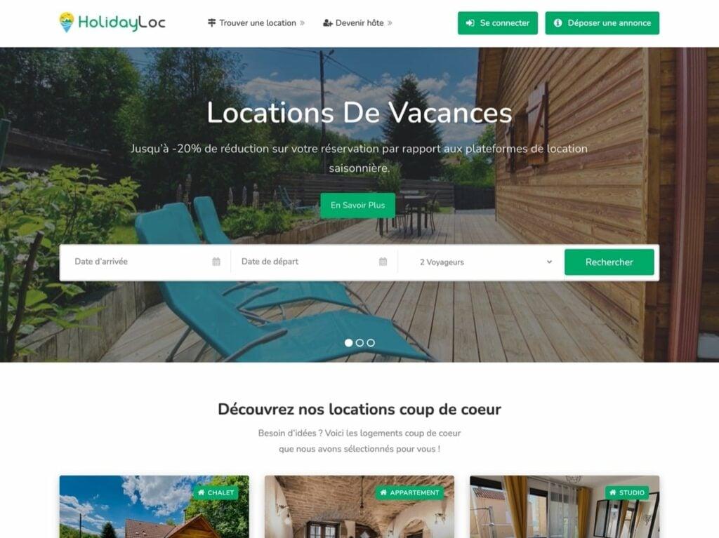 HolidayLoc site de location de vacance entre particulier